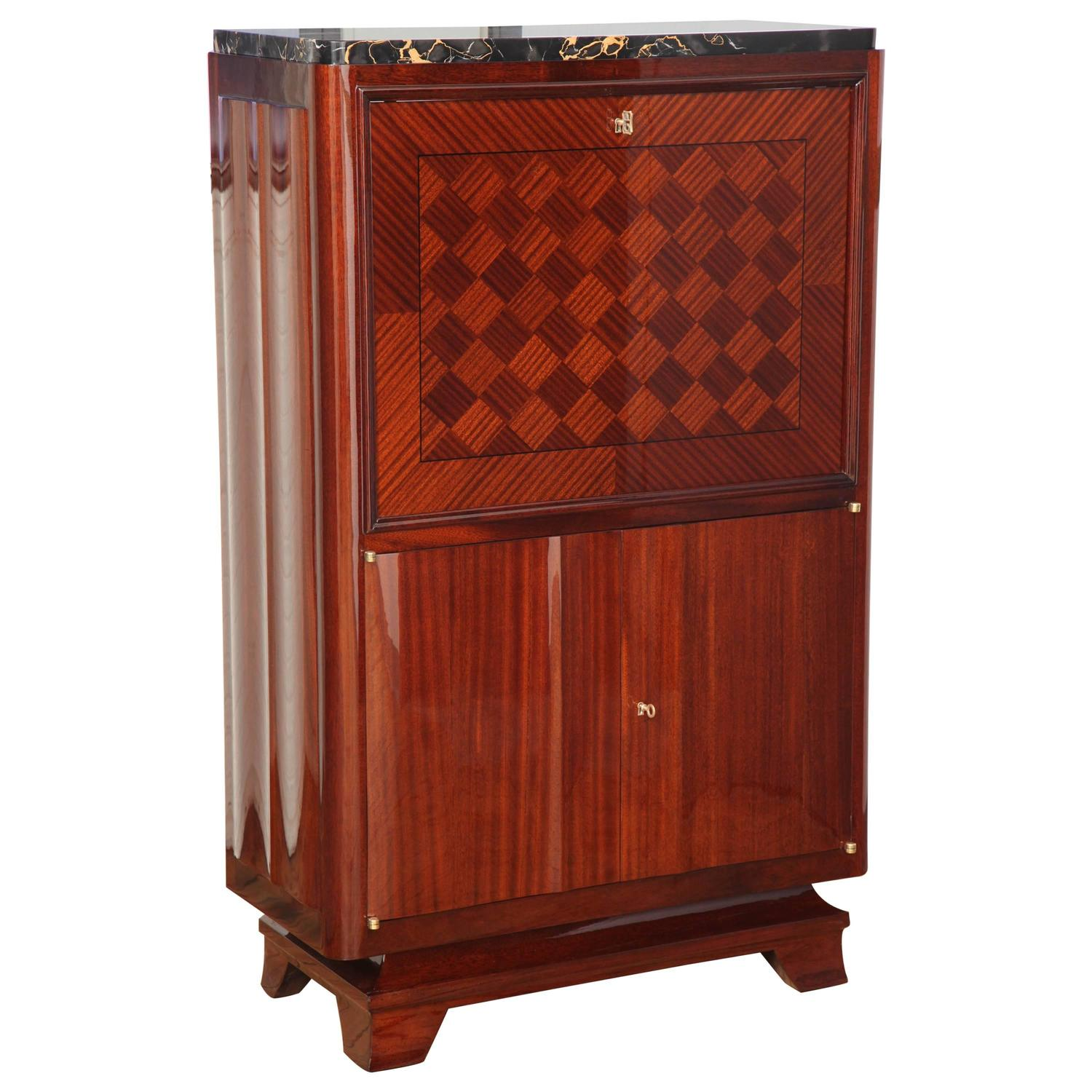 art deco bar cabinet at 1stdibs. Black Bedroom Furniture Sets. Home Design Ideas
