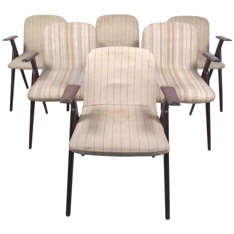 Six Italian Modern Dining Chairs