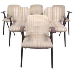 Six Mid-Century Modern Italian Dining Chairs