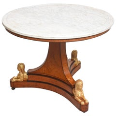 Charles X Center Table with Sphinx