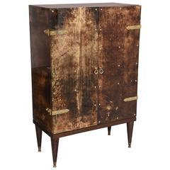 Mid Century Modern,  Goatskin Bar Cabinet by Aldo Tura