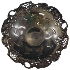 Blackberry by Tiffany Sterling Silver Candy Dish with Pierced Border 0801