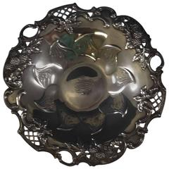 Blackberry by Tiffany Sterling Silver Candy Dish with Pierced Border, Hollowware