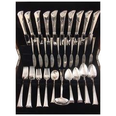 Linenfold by Tiffany & Co. Sterling Silver Flatware Set for Ten