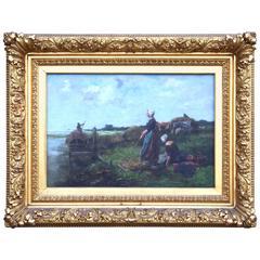 19th Century Pastoral Painting by Johannes Marinus Ten Kate (Dutch)