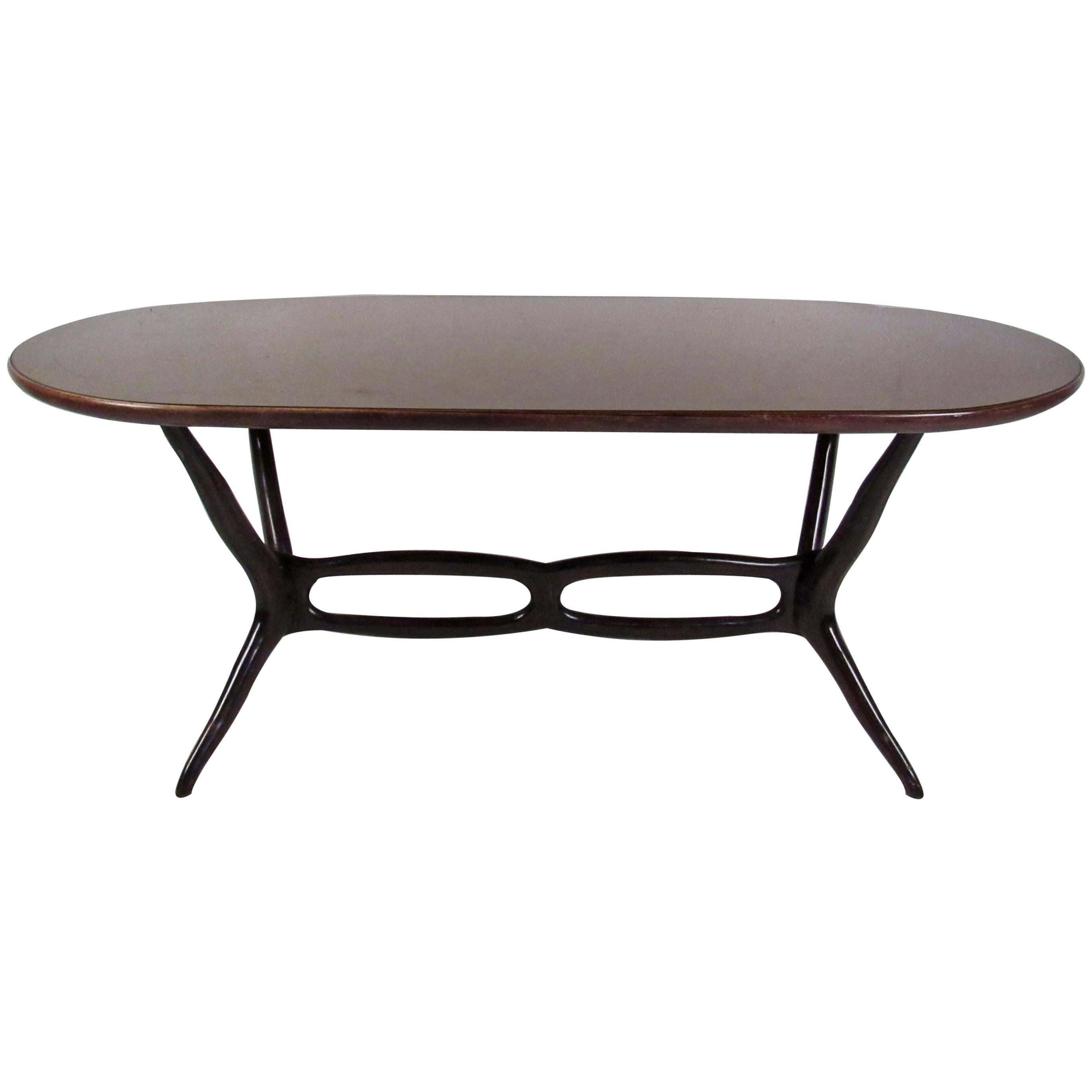 Italian Modern Rosewood Dining Table