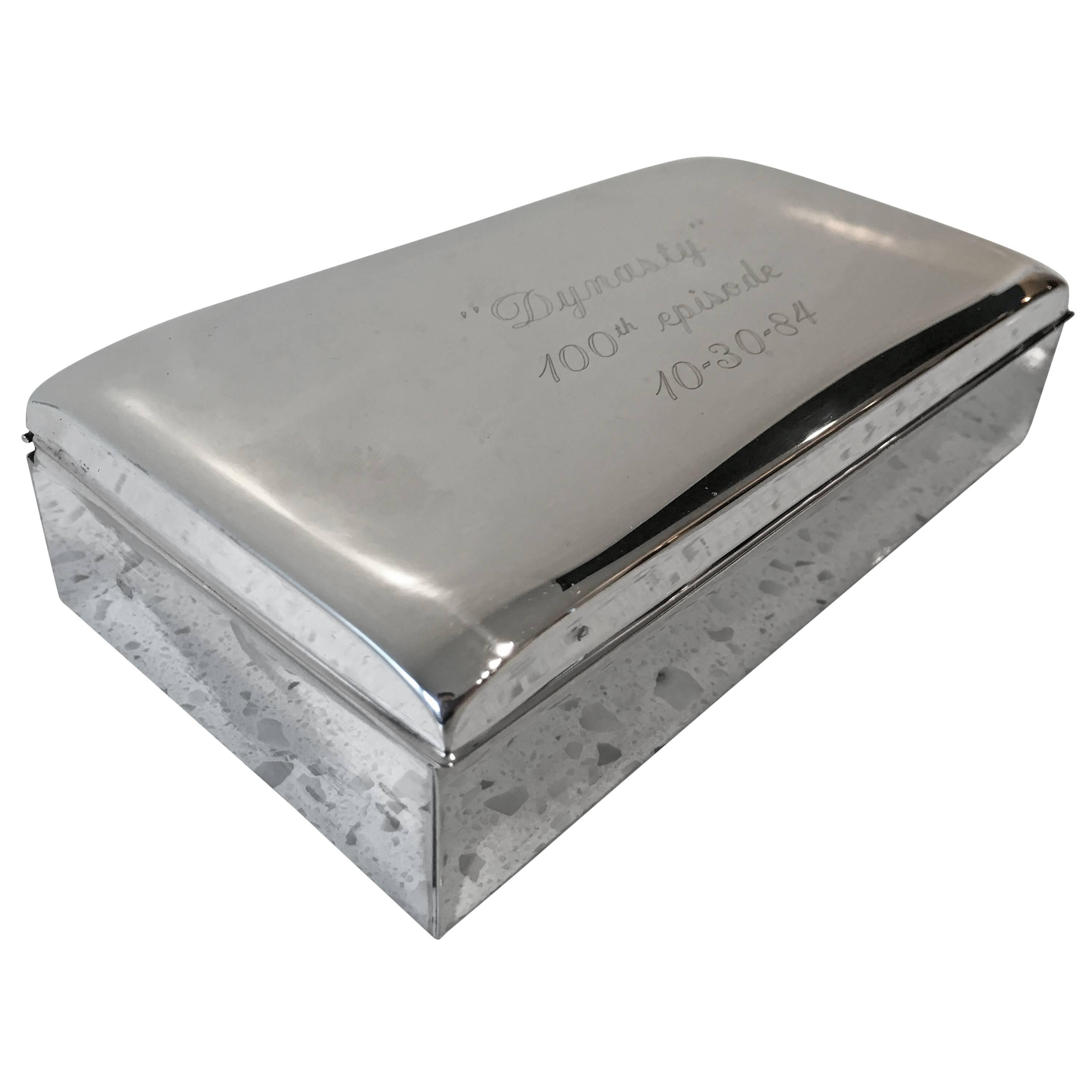 """""""Dynasty"""" 100th Episode Silver Plated Table Box"""