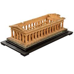 Cork Model of the Temple of Zeus at Paestum