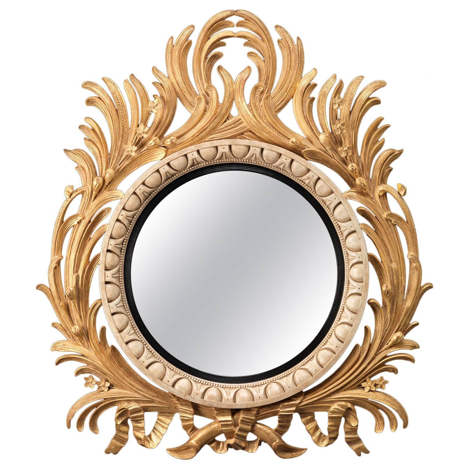 Large Acanthus Convex Mirror