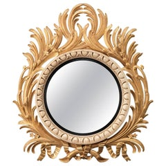 Large Acanthus Convex Mirror