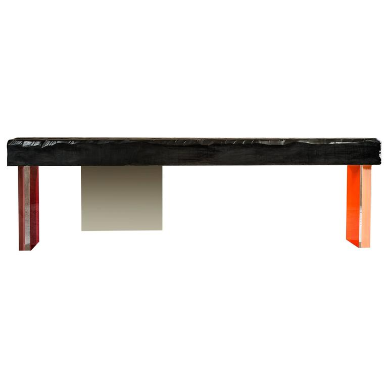 Charly Bounan's Colorful Calciné Bench