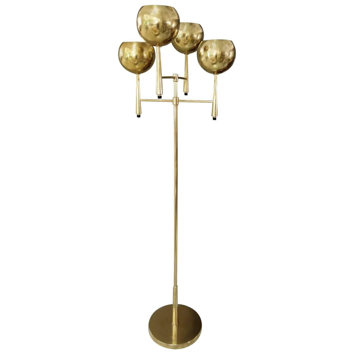 mid century modern four arm brass floor lamp by stiffel at. Black Bedroom Furniture Sets. Home Design Ideas