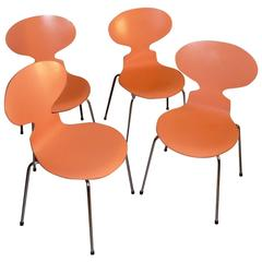 Set of Four Ant Chairs, Designed by Arne Jacobsen, Model with Four Legs FH3101