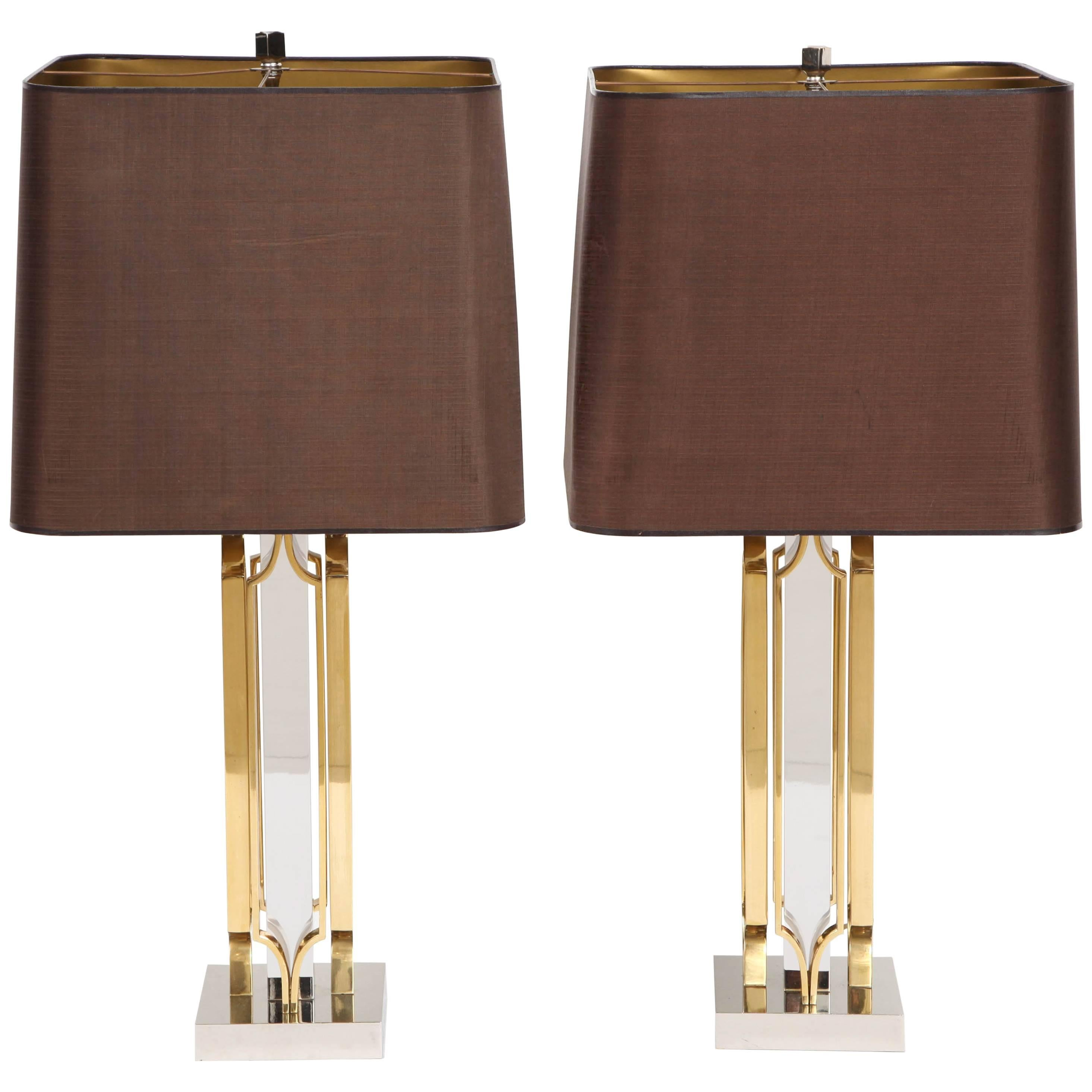 Pair of Lamps by Willy Daro