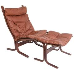 Mid-Century Danish Modern Rosewood or Leather Lounge Chair Westnofa Norway