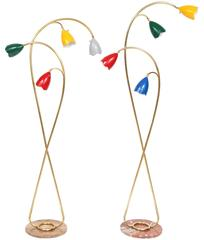 Pair of 1950s Italian Floor Lamps Attributed to Arredoluce