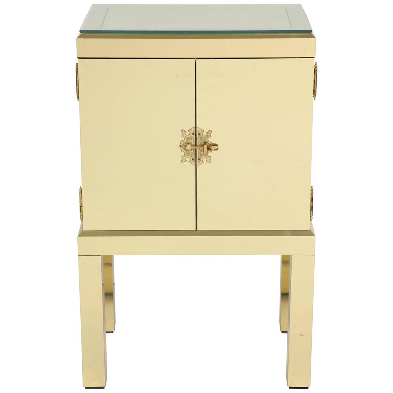 Brass Clad Cabinet For Sale