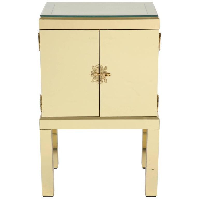 Brass Clad Cabinet 1