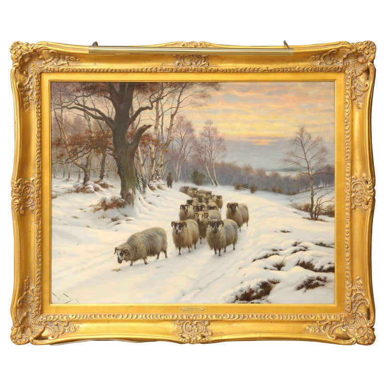 Painting by Wright Barker For Sale