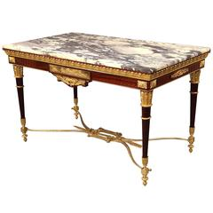 Fantastic Late 19th Century Gilt Bronze-Mounted Center Table