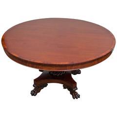 William IV Tip-Top Center Table, England, circa 1825