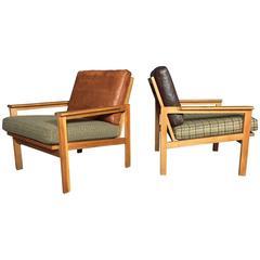 "Pair of ""Capella"" Lounge Chairs, Illum Wikkelsø, Denmark, 1960s"