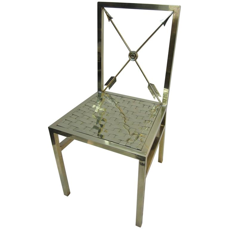 Brass Campaign Style Chair