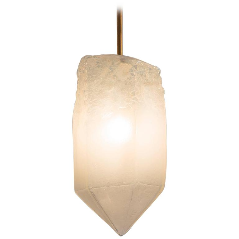 Jeff Zimmerman Furniture Illuminated Handblown Glass Pendant at 1stdibs