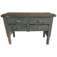 19th Century Wooden Work Table with Drawers