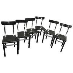 Six Chairs by Lajos Kozma