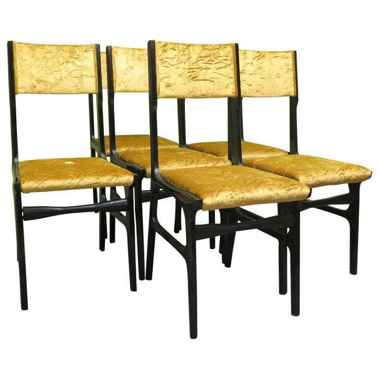 Set of Six Chairs by Carlo de Carli For Sale