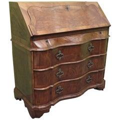 Mid 19th Century Walnut Wood Italian Desk Dresser, 1850