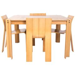 GIJS BAKKER STRIP CHAIRS with the strip table