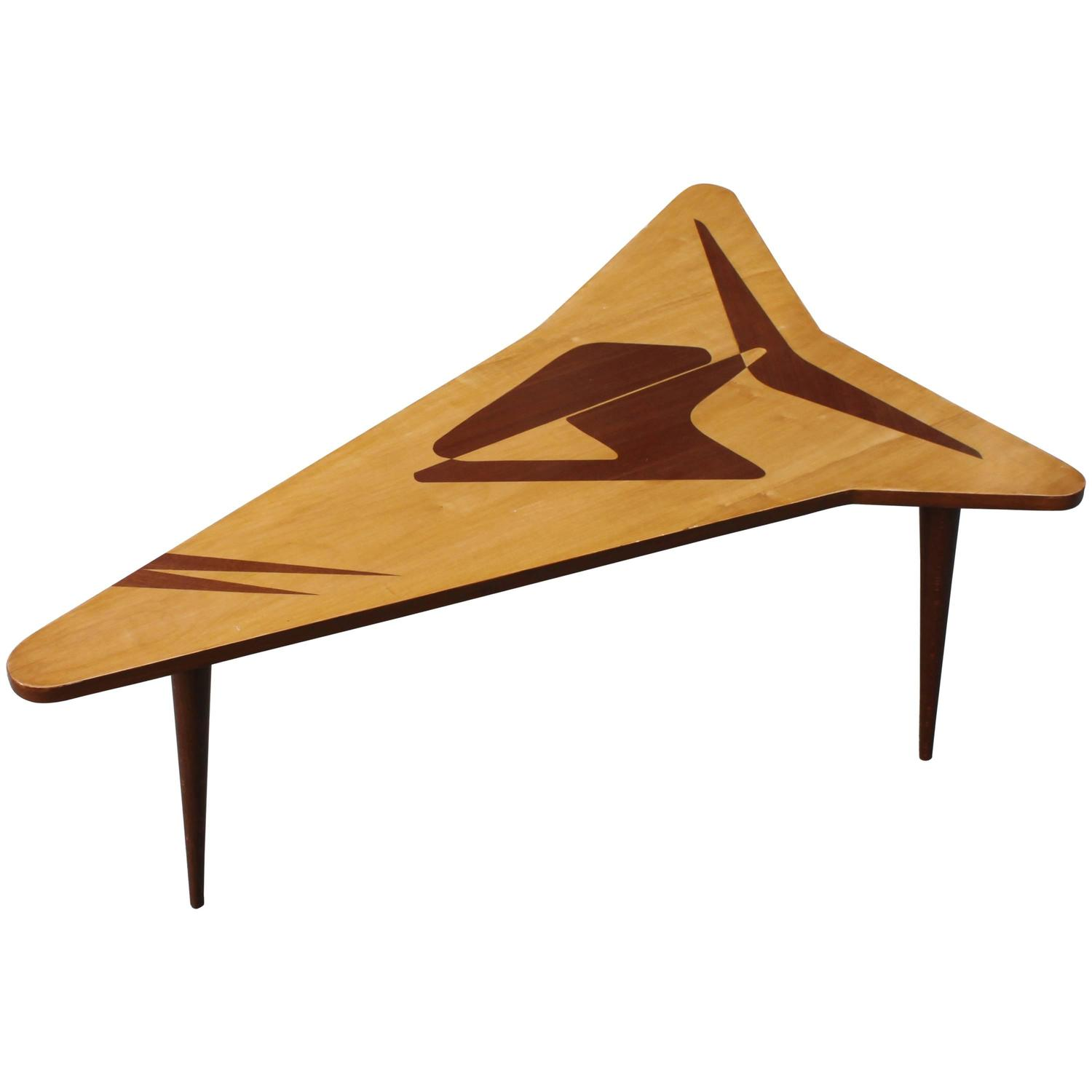 1960s Vintage Italian Boomerang Coffee Table For Sale At