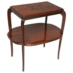 Majorelle Signed Piece, Art Nouveau Early Art Deco Side Table circa 1925