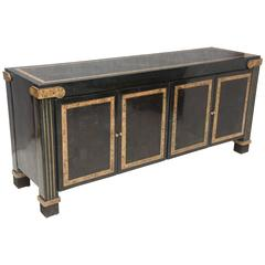 Mid-Century Sideboard Tessellated Marble Neoclassical Style by Maitland-Smith