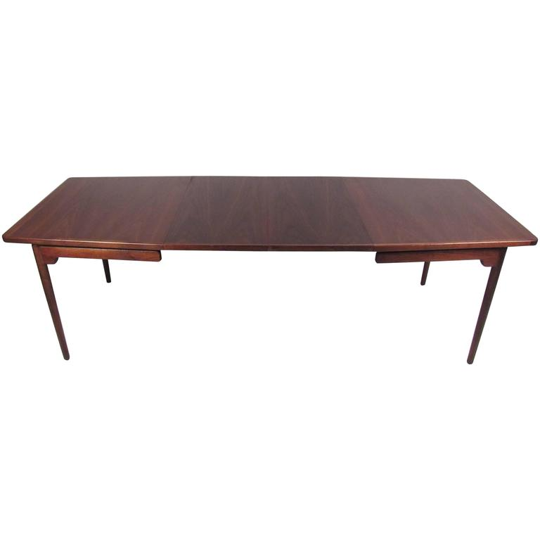 Jens risom mid century modern floating teak dining table for Floating dining table