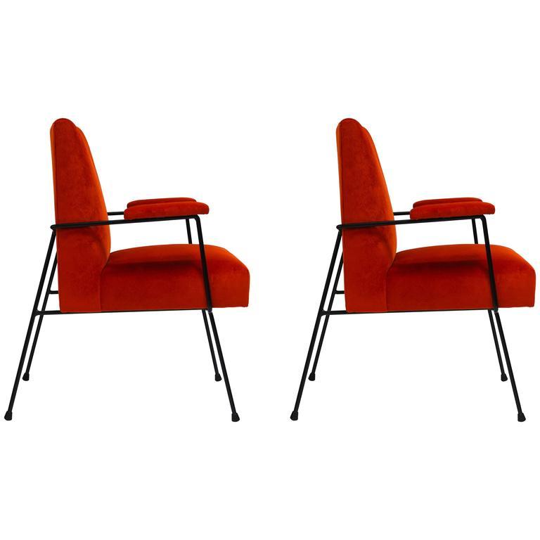 California iron arm chairs at stdibs