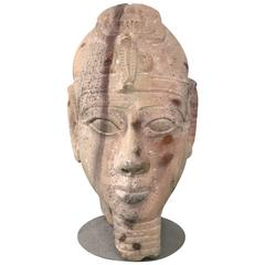 Sandstone Bust of a Pharoah