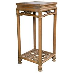 Tall Chinese Teak Stand