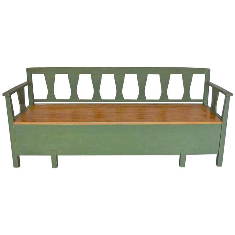 19th Century Swedish Painted Bench Daybed For Sale At 1stdibs