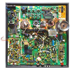 "Component Art ""0609A"" Wall Sculpture Comprised Of Mid 20th TV Artifacts. ON SALE"