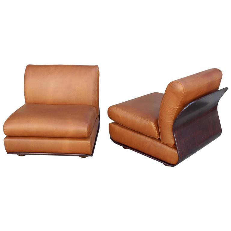 B B Italia Mario Bellini Pair Of Lounge Chairs At 1stdibs