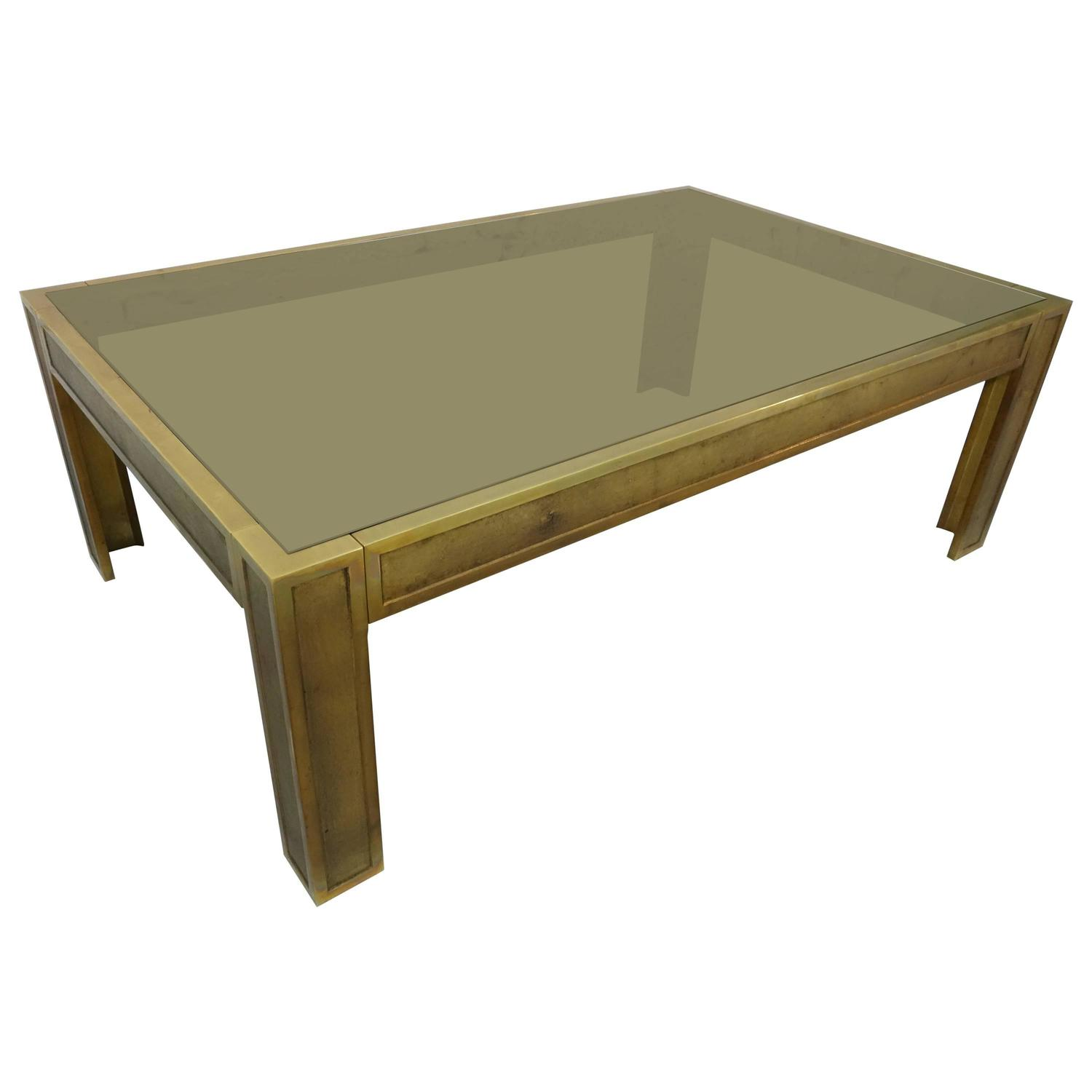 Heavy bronze coffee table for sale at 1stdibs Bronze coffee tables