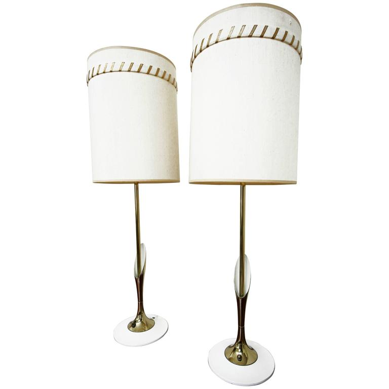 Pair of Sculptural Brass Lamps by Laurel Lamp Company