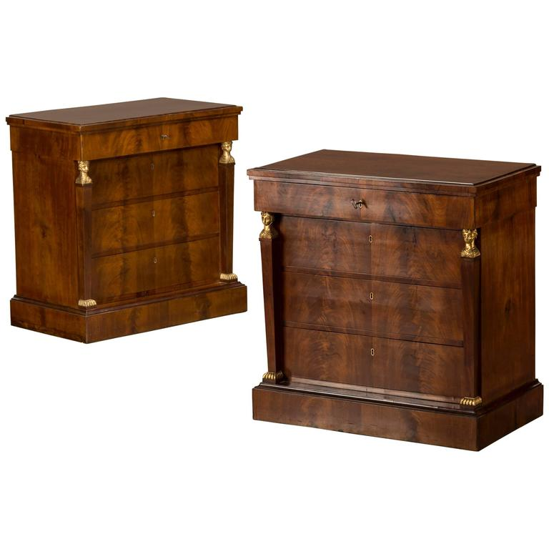 Elegant Pair of Neoclassical Chests of Drawers, Denmark, circa 1820