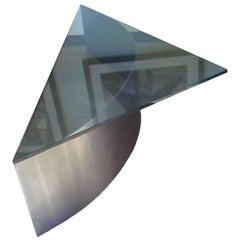 Custom Deigned Steel and Glass Coffee Table