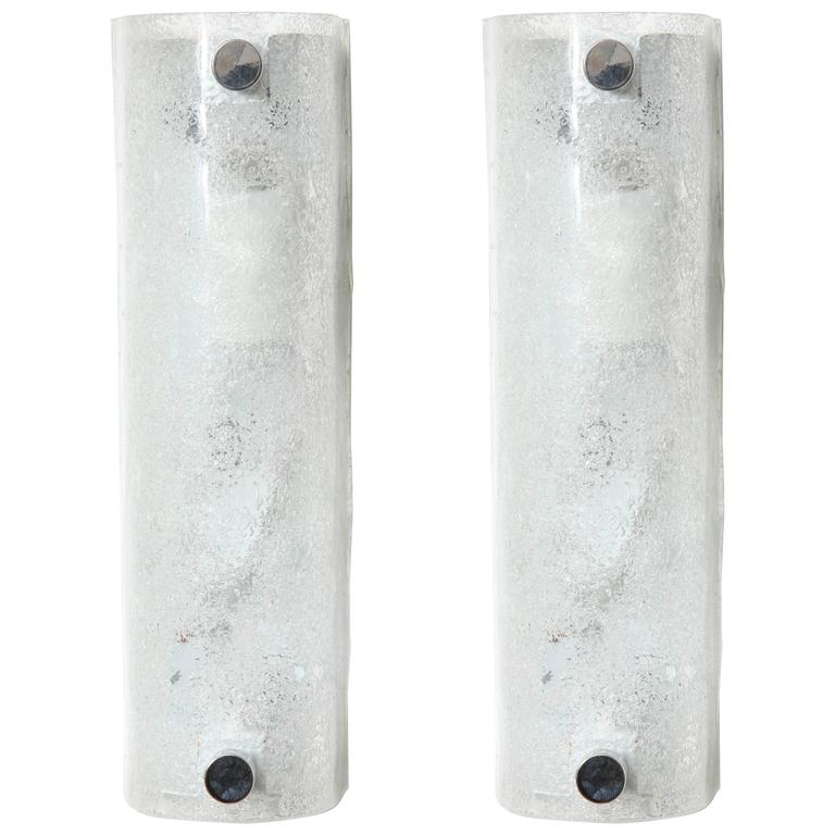 Ice Glass Sconces by Kaiser