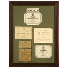 Collection of Old Labels for Wine Cellar