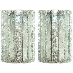Pair of Cristal Arte Sconces